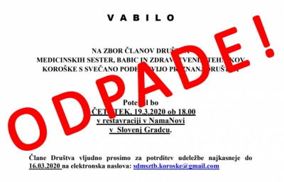 VABILO NA ZBOR ČLANOV DRUŠTVA ODPADE!!!